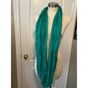 Lucky Brand teal circle scarf - never worn